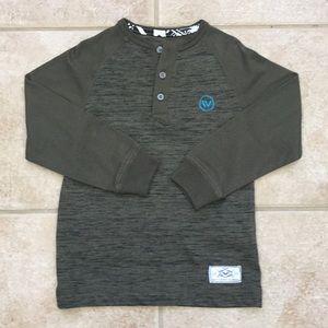 Shaun White Boys Long Sleeve Henley Tee Shirt